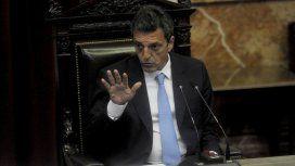Sergio Massa en la Cámara de Diputados