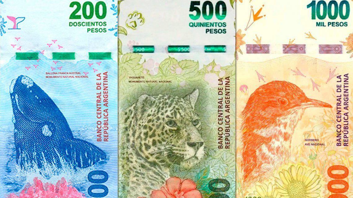 El Banco Central aclaró que el reemplazo de billetes será progresivo y sin costos extra