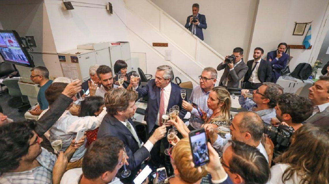 En su primera Navidad como presidente, Alberto Fernández brindó por terminar con el hambre