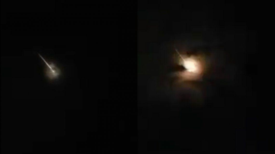 VIDEO: Una increíble bola de fuego cayó sobre el Océano Pacífico
