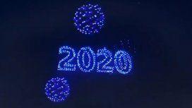 Impresionante: miles de drones luminosos sincronizados