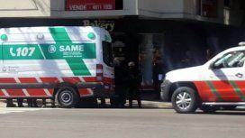 Un hombre se atrincheró con su bebé de tres días en una ambulancia del SAME