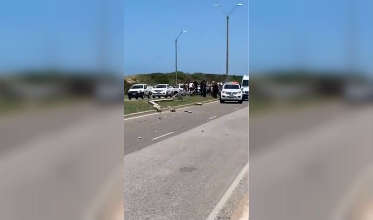 Un argentino atropelló a una uruguaya en Punta del Este: estaba alcoholizado y chocó contra un cantero