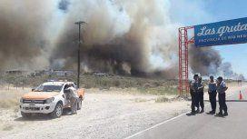 Impactante incendio en Las Grutas