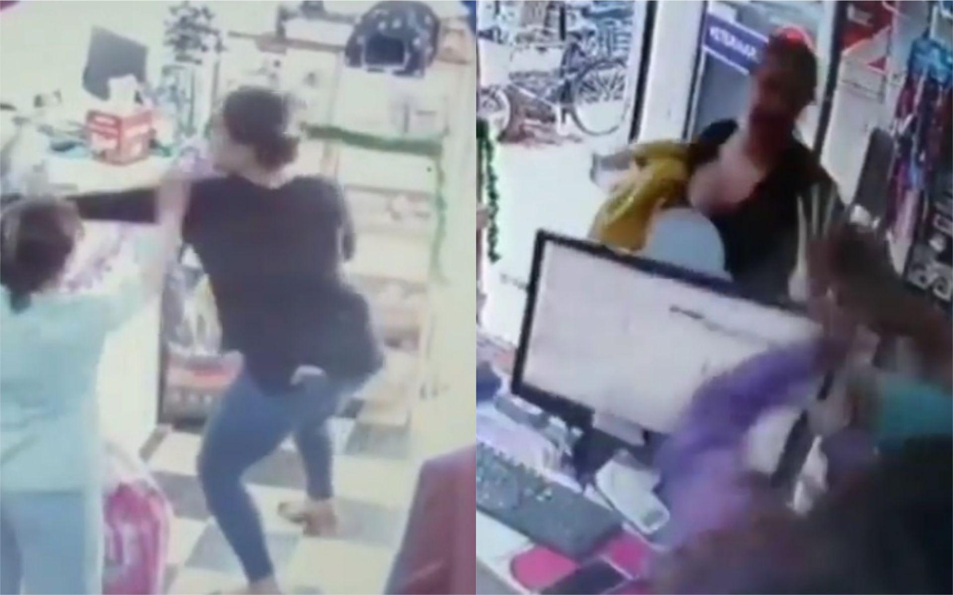 VIDEO: Ataque de furia de una mujer en una veterinaria de Núñez