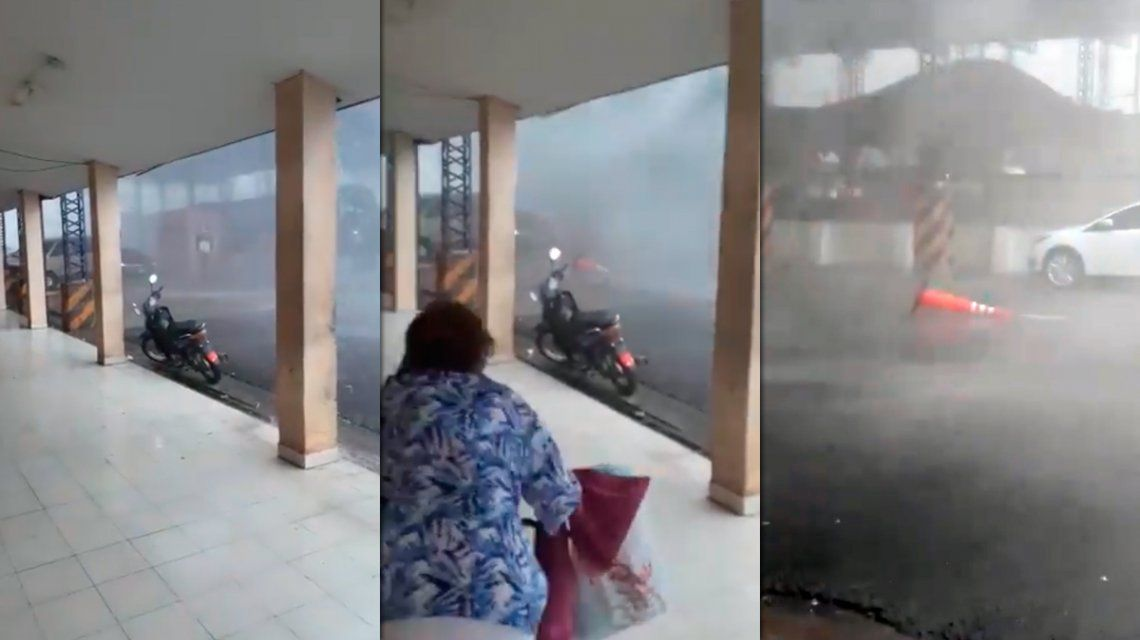 VIDEO: Impresionante temporal causó destrozos en Clorinda, Formosa