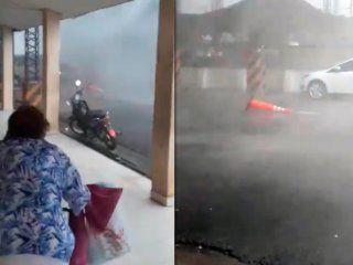 video: impresionante temporal causo destrozos en clorinda, formosa