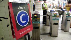 La Línea C de subte no funcionará durante dos semanas por obras
