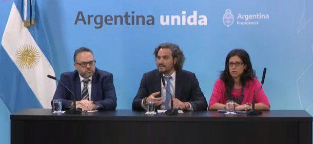 Matís Kulfas, Santiago Cafiero y Paula Español