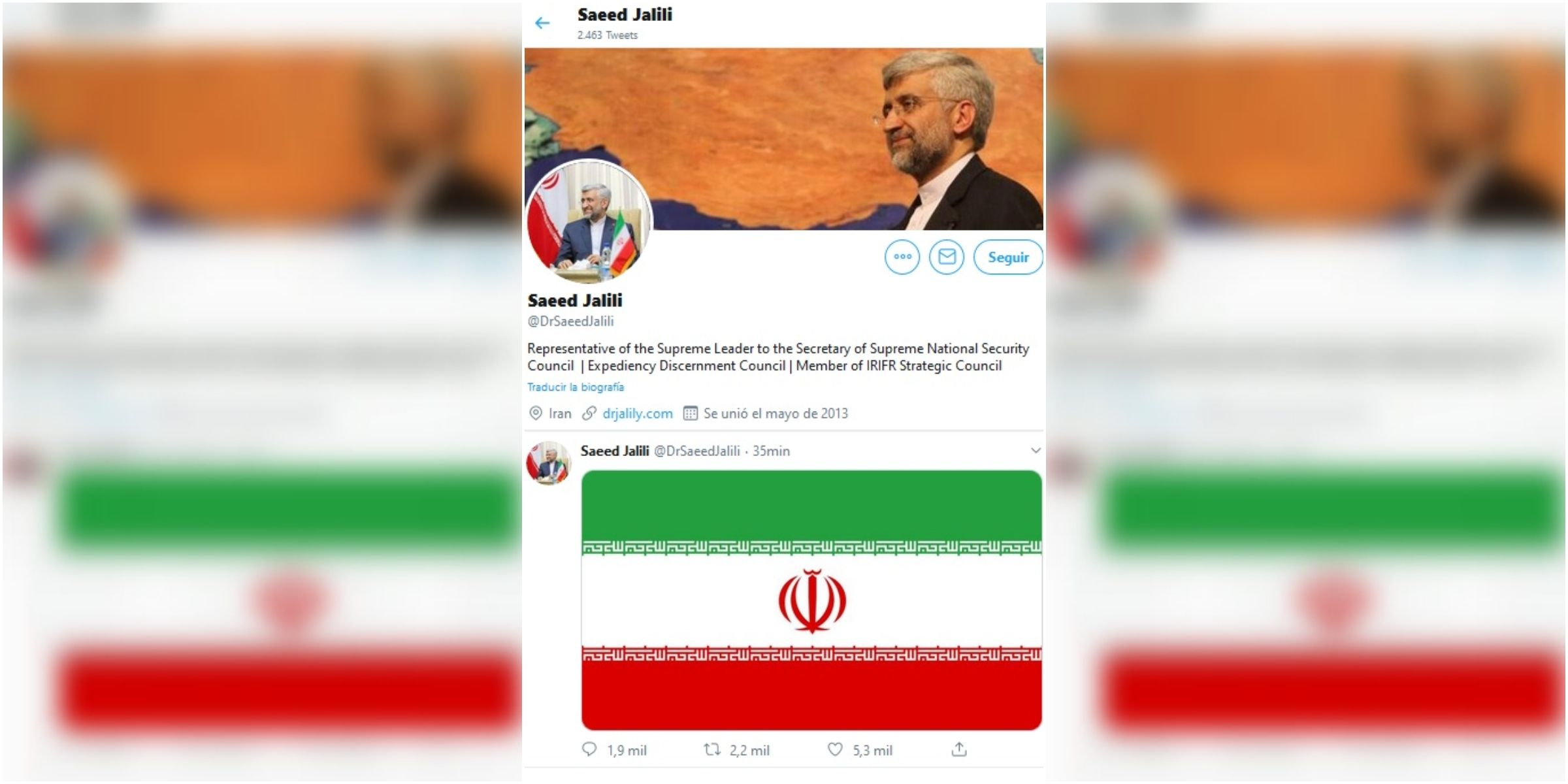Saeed Jalili y el tuit que emuló al de Donald Trump