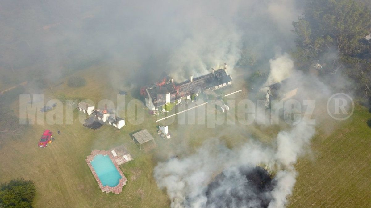 Se incendió la chacra de un argentino en Punta del Este