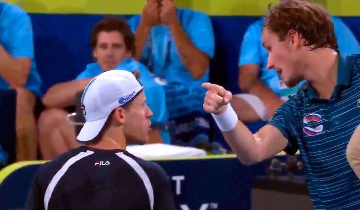 Tremendo cruce entre Schwartzman y Medvedev en la Copa ATP: Bobo