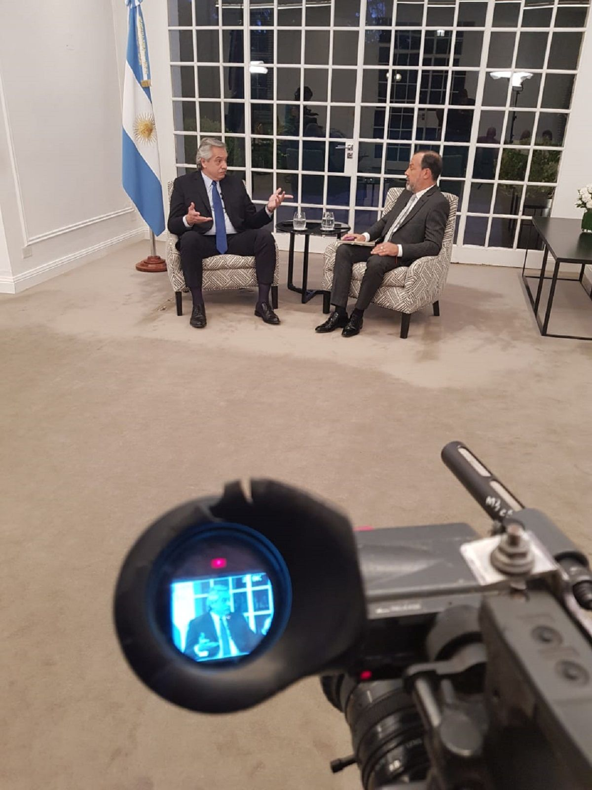 Alberto Fernández con Gustavo Sylvestre