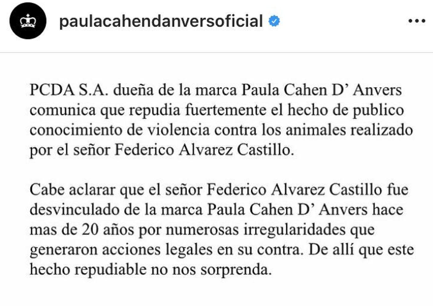 No nos sorprende: el repudio de la ex de Federico Álvarez Castillo tras el polémico video
