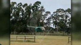Revelador video: así despegaba el helicóptero con el que le tiraron el cerdo a Álvarez Castillo