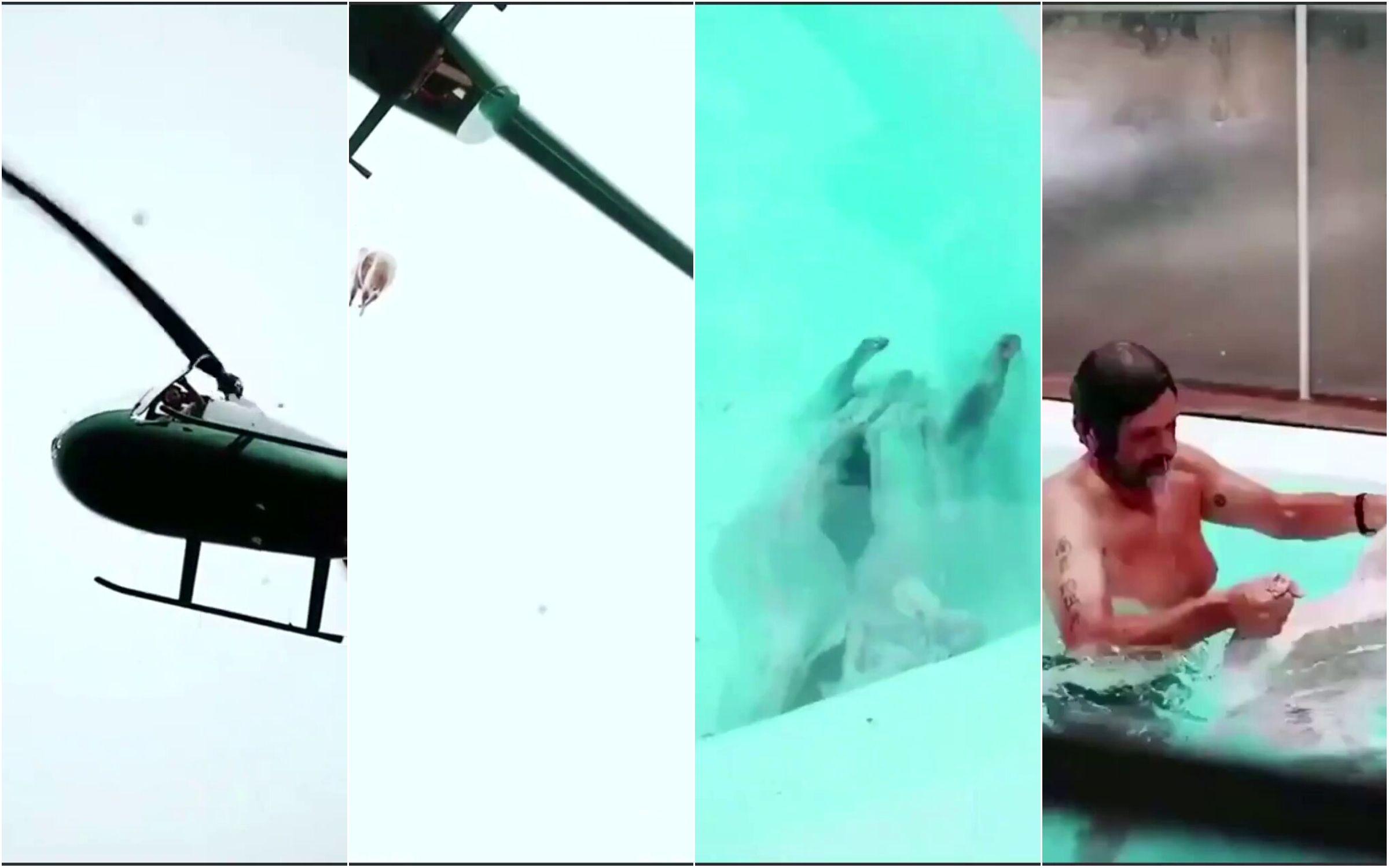 Álvarez Castillo: nuevo video muestra al cordero cayendo y al empresario en la pileta