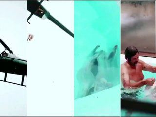 alvarez castillo: nuevo video muestra al cordero cayendo y al empresario en la pileta