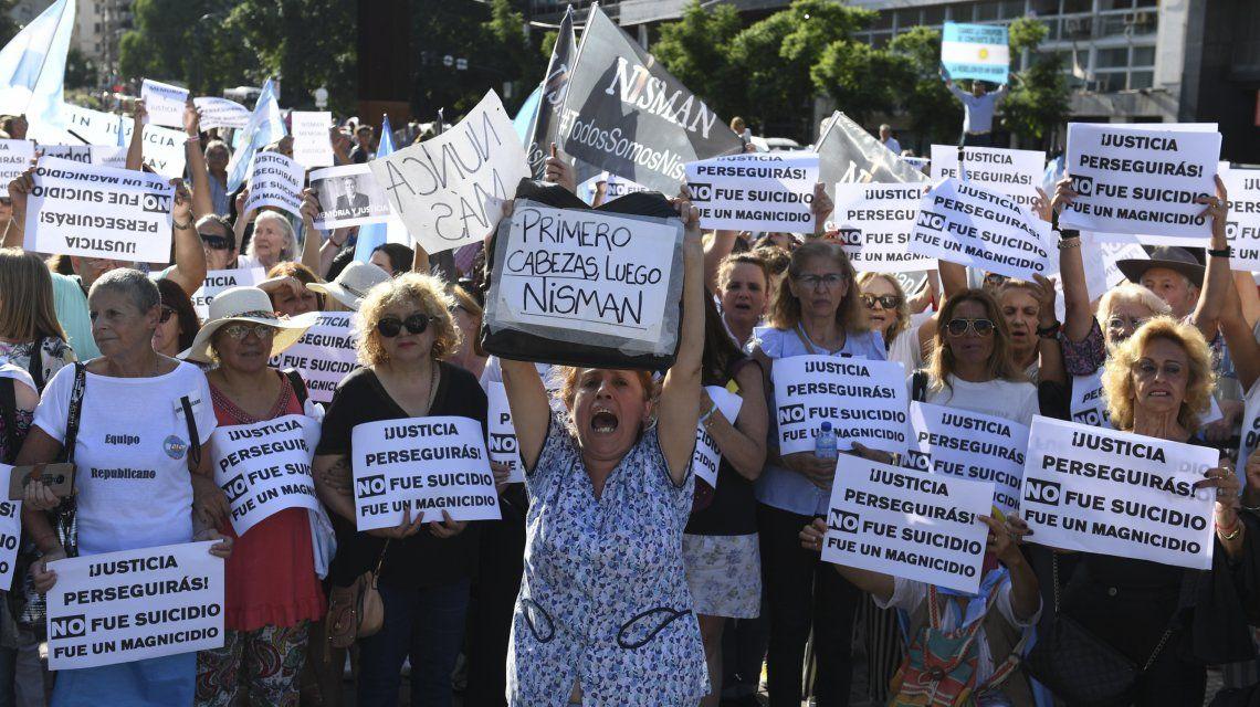 Así fue el acto opositor a cinco años de la muerte de Nisman