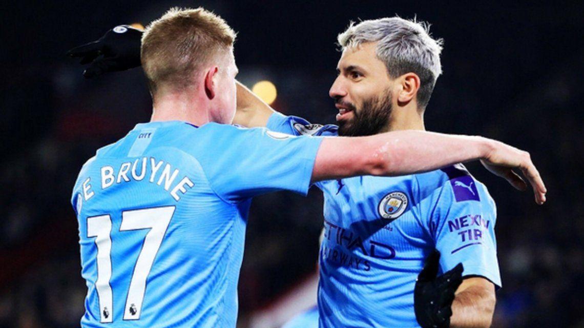 ¡Imparable! Con un gol del Kun Agüero, Manchester City venció a Sheffield United