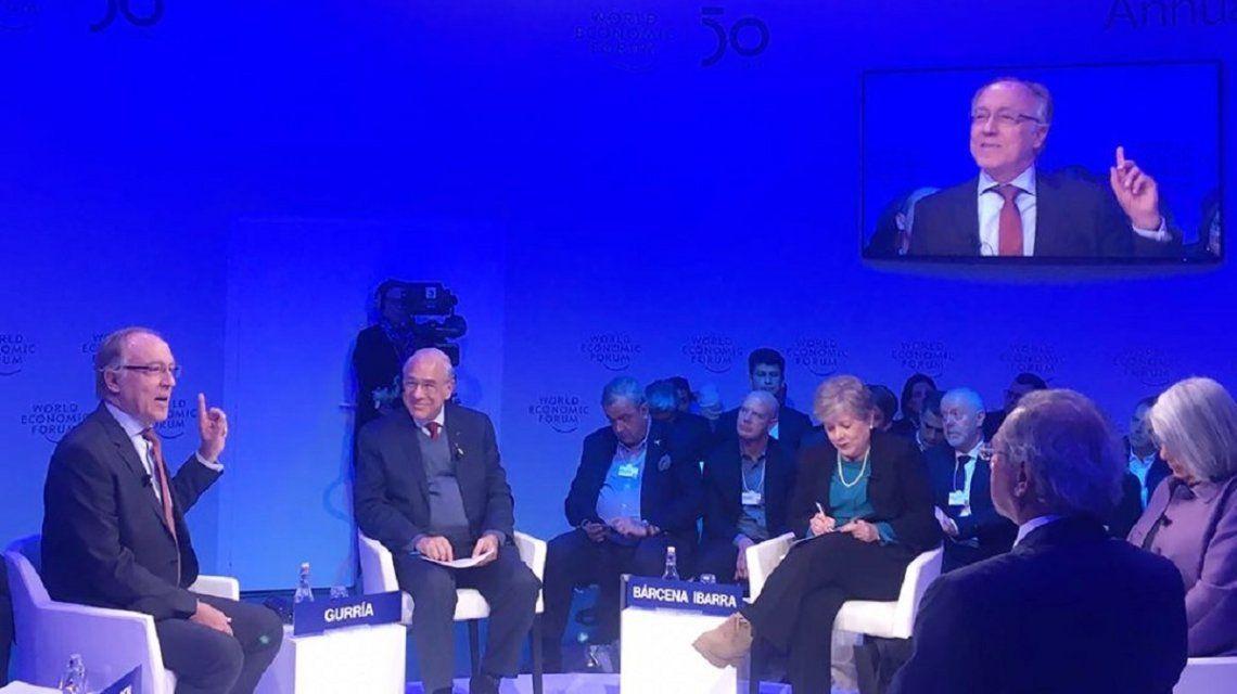 Nielsen en Davos - Crédito:@NielsenEcon