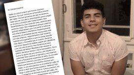 La carta de un jugador de rugby sobre el crimen de Fernando: Sí, fuimos nosotros