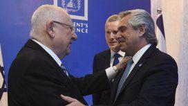 Alberto Fernández inauguró su agenda en Israel con una cena de honor en la Residencia Presidencial