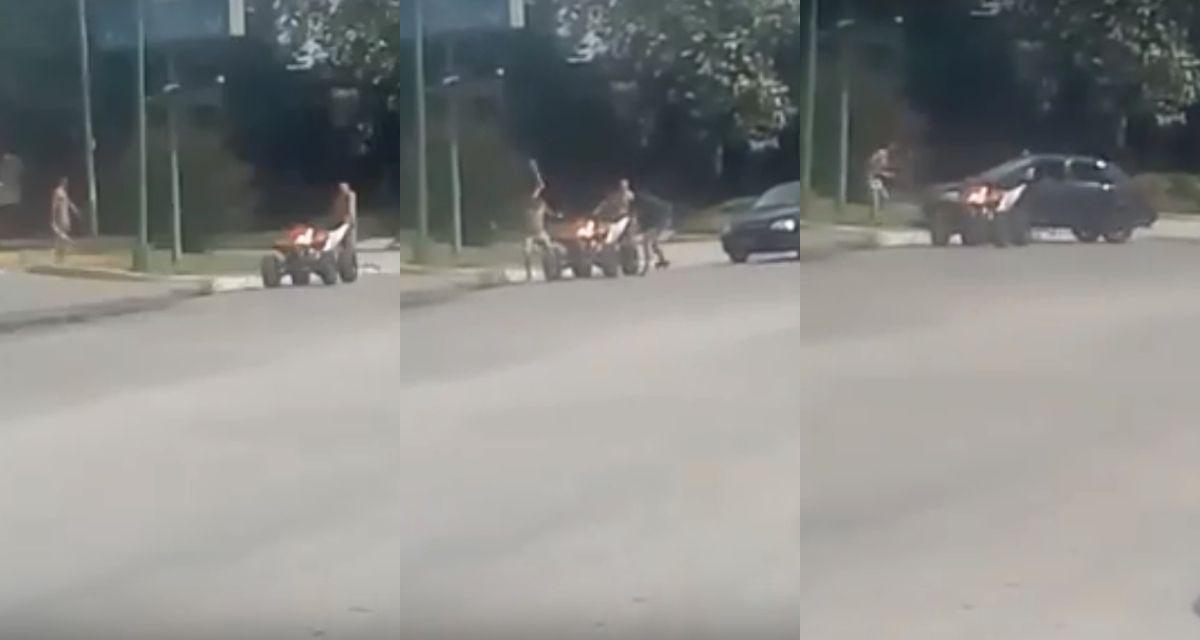 Tucumán: brutal pelea con piedras y machetazos en plena calle en Tafí Viejo