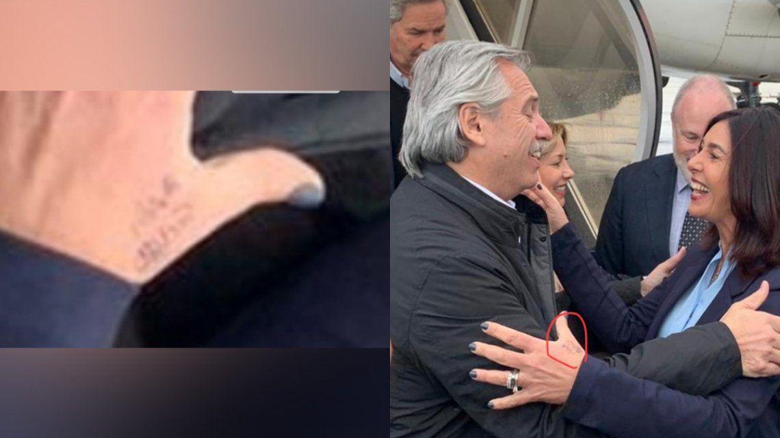 Insólito: la ministra israelí que recibió a Alberto Fernández se macheteó su nombre en la mano