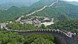 El muro se extiende desde la frontera con Corea hasta el desierto de Gobi