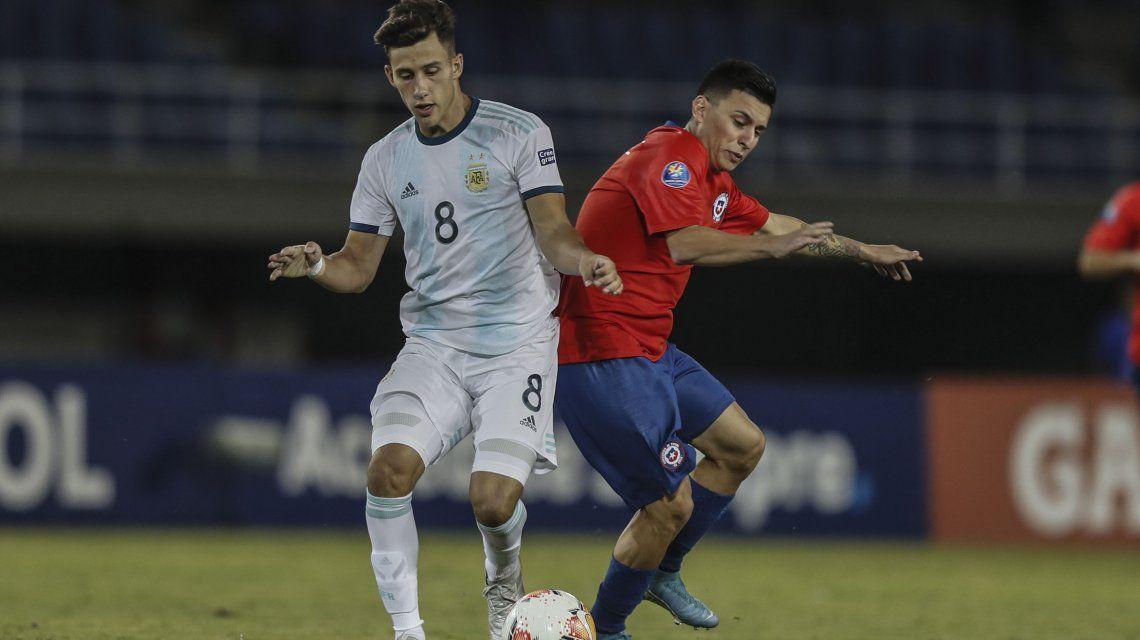 Preolímpico Sub 23: Argentina le ganó con tranquilidad a Chile y lidera con puntaje ideal