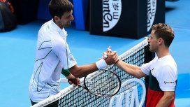 Schwartzman cayó ante Djokovic y quedó afuera del Australian Open