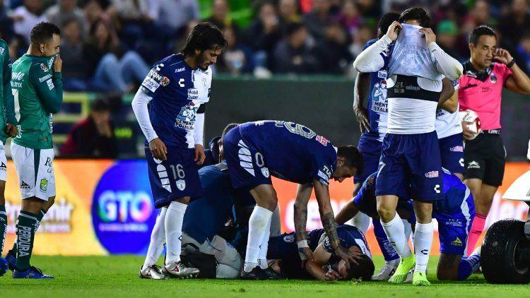 La escalofriante lesión que sufrió Eugenio Pizzuto de Pachuca