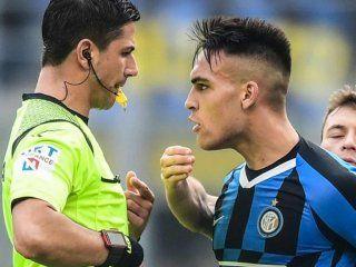 lautaro martinez marco un gol pero se fue expulsado y enojado