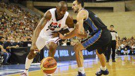 Kobe Bryant y Manu Ginóbili jugando para sus selecciones