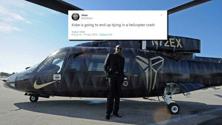 Kobe Bryant y su helicóptero