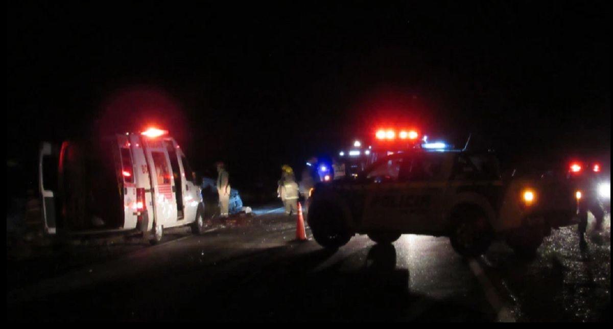 Río Negro: un choque frontal dejó cuatro muertos en Catriel