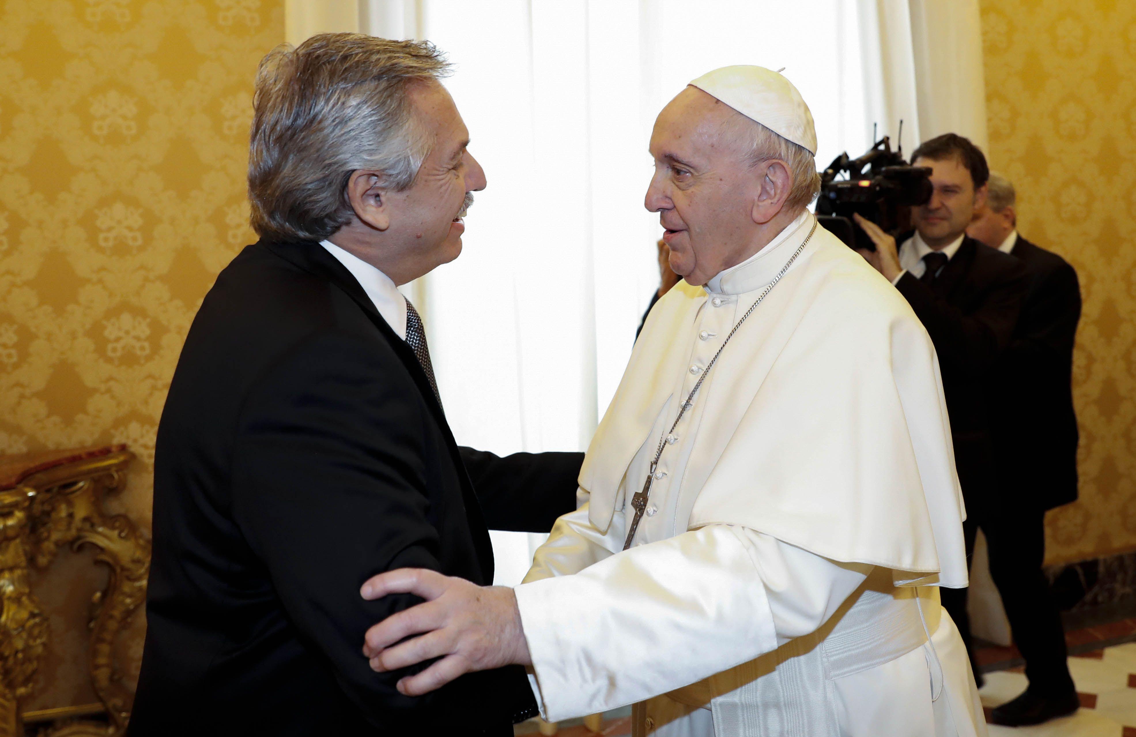 Alberto Fernández se reunió con el papa Francisco en el Vaticano