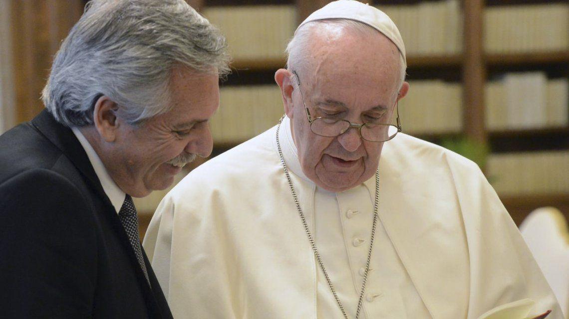 El presidente Alberto Fernández se reunió con el papa Francisco