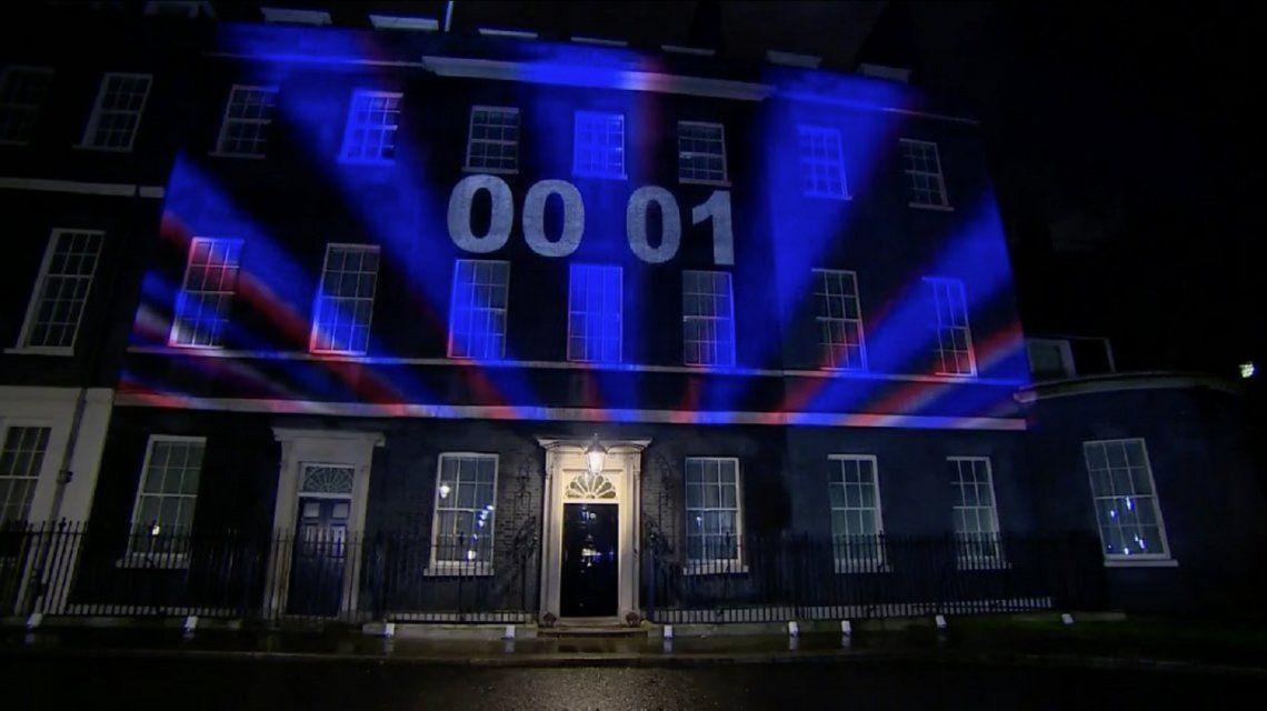 Se proyectó la cuenta regresiva del Brexit en Londres