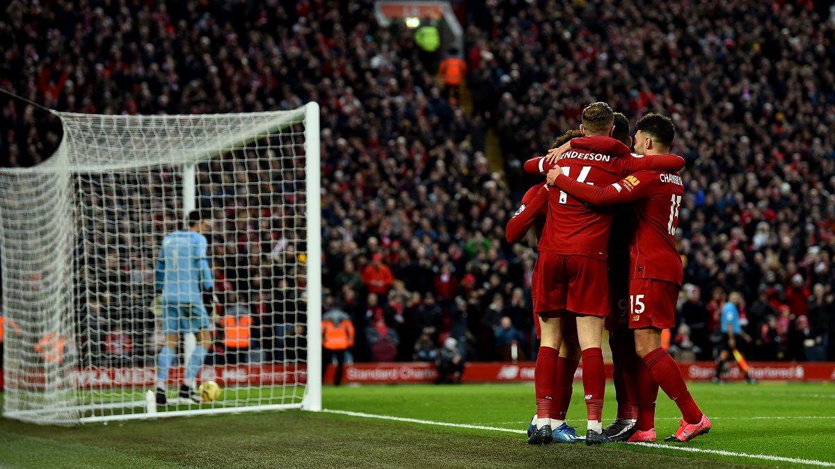 Liverpool imparable: goleó a Southampton y suma 24 triunfos en 25 partidos