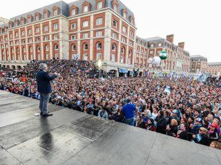 Alberto en el cierre de campaña en Mar del Plata