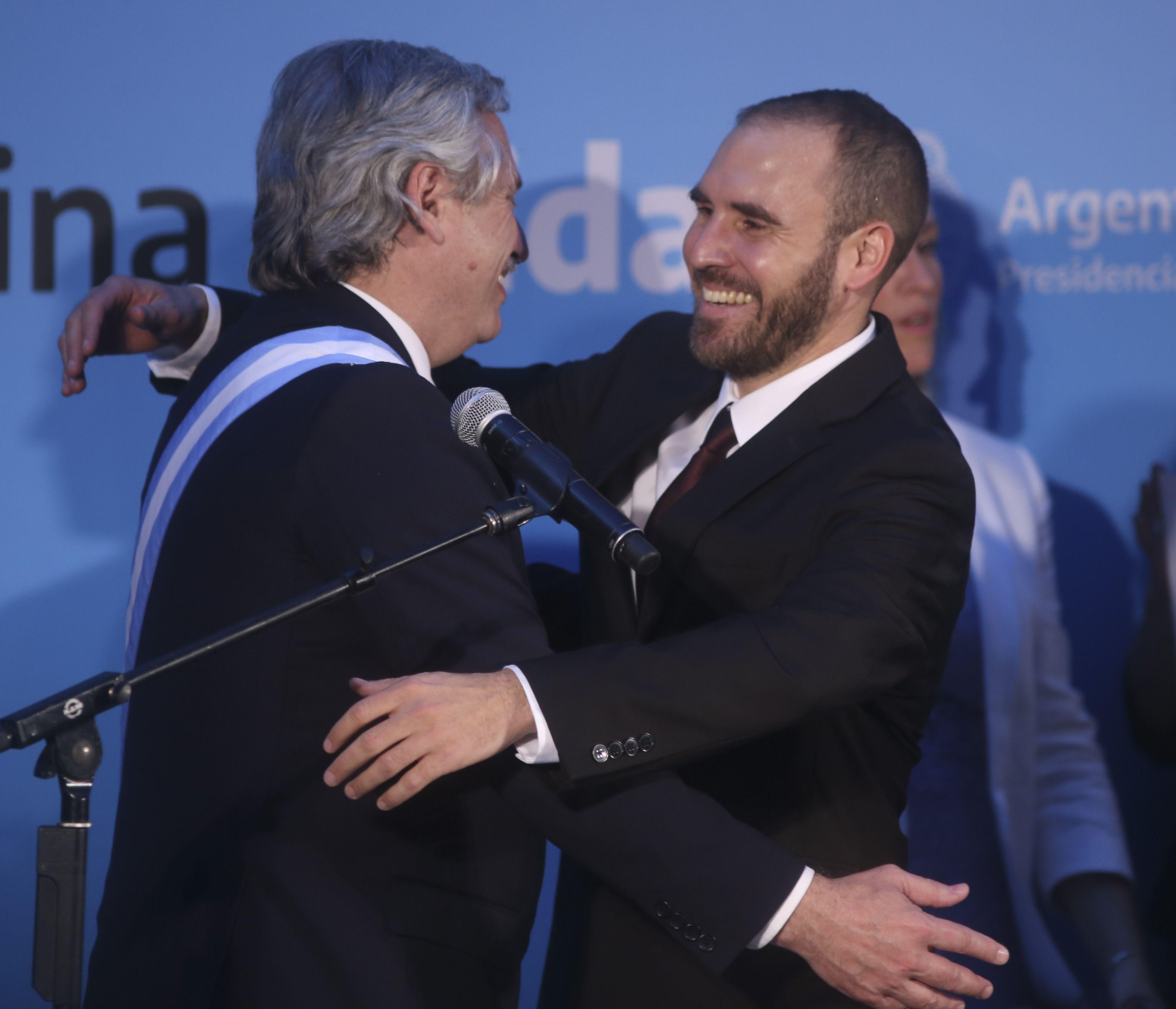 Alberto Fernández con Martín Guzmán