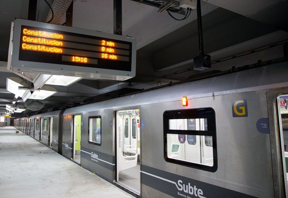 La línea C de subte reanudó este lunes su servicio tras dos semanas de obras