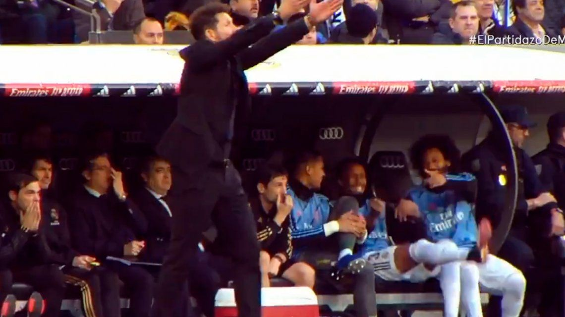 VIDEO: Dos jugadores del Real Madrid se burlaron e imitaron al Cholo Simeone