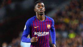 Otra baja para el Barcelona: Dembelé lesionado