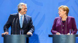 Alberto Fernández viaja a Madrid después de conseguir el respaldo de Merkel en Berlín