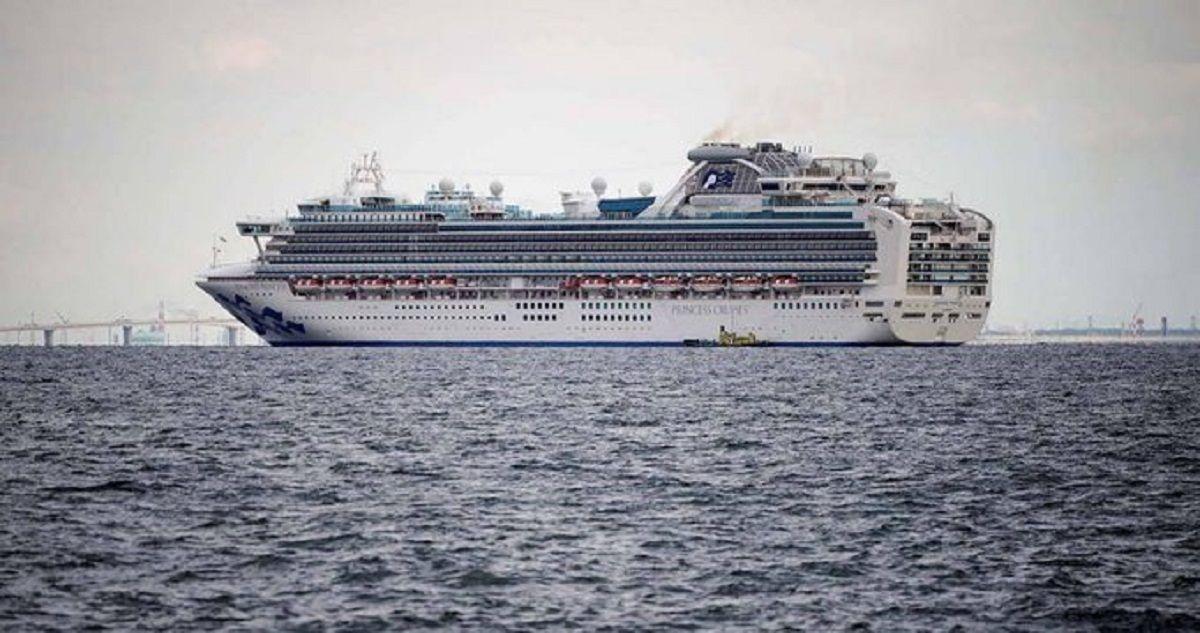 El Diamond Princess se encuentra anclado cerca del puerto de Yokohama