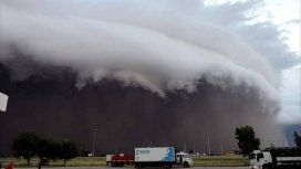 Desde la ruta así se veía la llegada del temporal