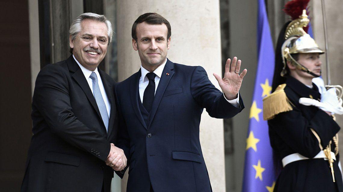 Macron manifestó su apoyo a la Argentina en la renegociación de la deuda con el FMI