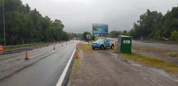 Seguridad vial trabaja en la ruta 38. Foto: Twitter